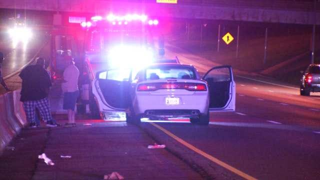 WEB EXTRA: Video From Scene Of Woman Struck Walking Across I-244 At Yale