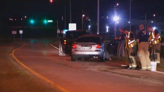WEB EXTRA: Video From Scene Of I-244 And Mingo Crash