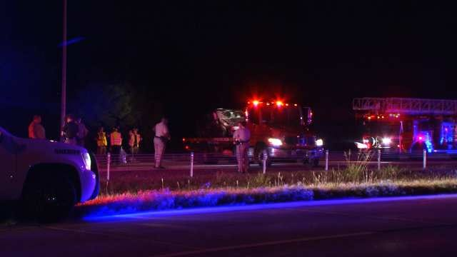 WEB EXTRA: Video From Scene Of West Tulsa Wrong Way Crash
