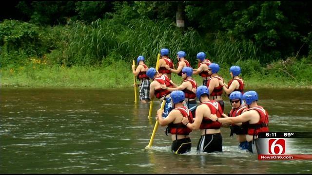 Tulsa Fire Cadets Train For Swift Water Rescue