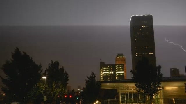 WEB EXTRA: Video Of Thunderstorms As They Move Through Downtown Tulsa