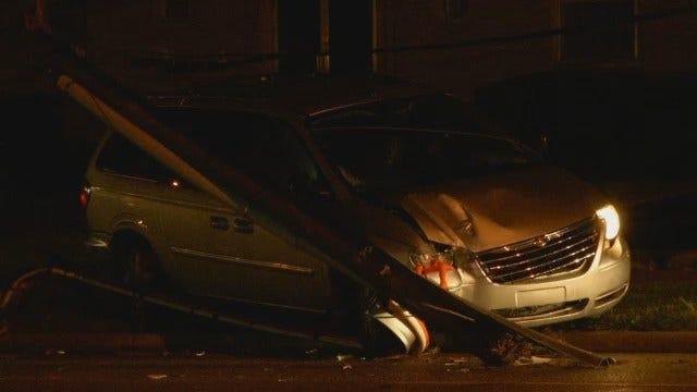 WEB EXTRA: Video Of Crash Scene On East 11th Street In Tulsa