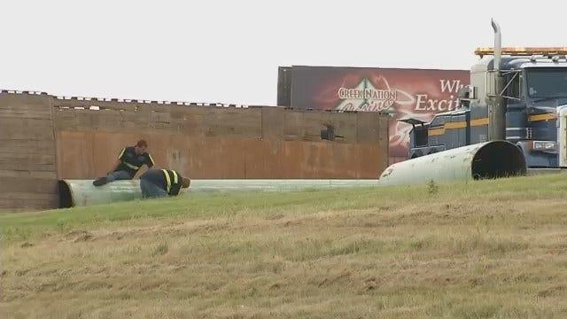 WEB EXTRA: Video From Scene Of Semi Crash On I-44