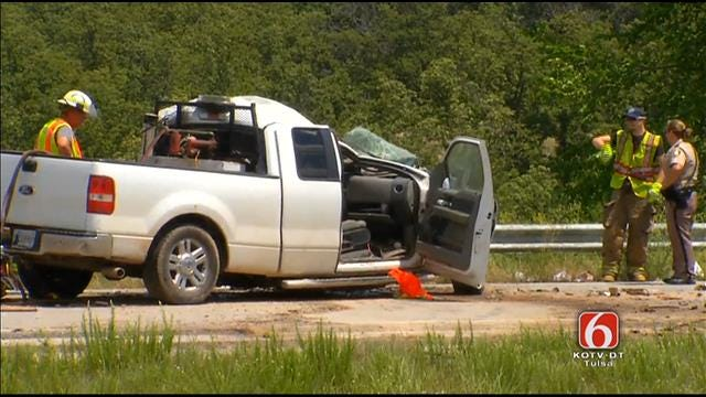 WEB EXTRA: Scenes From Fatality Wreck In Creek County