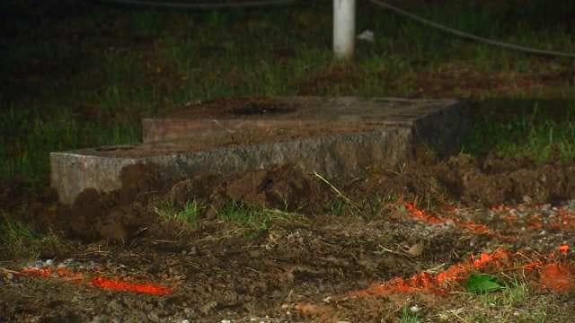 WEB EXTRA: Video Of Damage At Lone Elm Cemetery In Rogers County