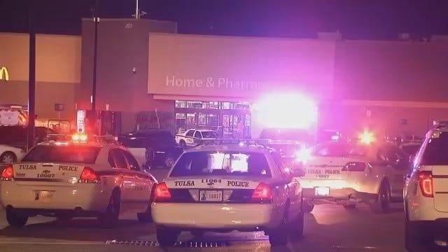 WEB EXTRA: Video Of Scene At East Tulsa Walmart