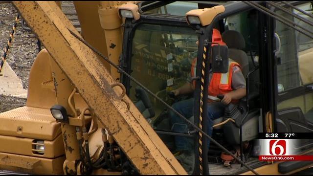 Crews Clean Up Derailment At Tulsa BNSF Railway Yard