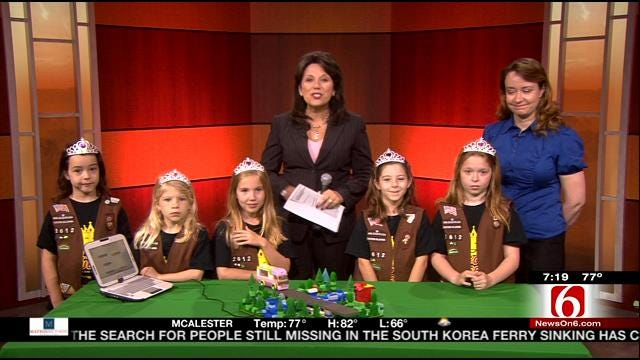 Tulsa Girl Scouts Talk About Visit With The President