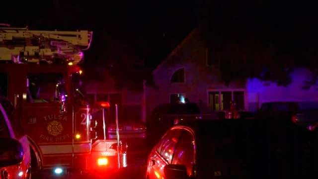 WEB EXTRA: Video From Scene Of East Tulsa Apartment Complex Fire