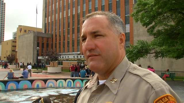 WEB EXTRA: Tulsa County Sheriff's Captain Billy McKelvey Talks About Courthouse Evacuation