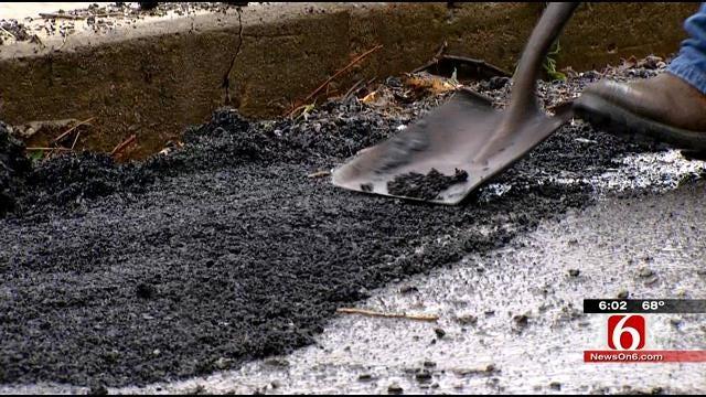 Muskogee County Crews Repair Flood-Damaged Roads