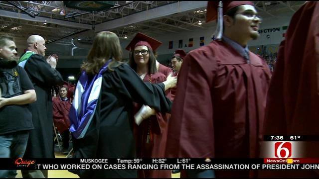 Joplin High School Seniors Stand Joplin Strong At Graduation