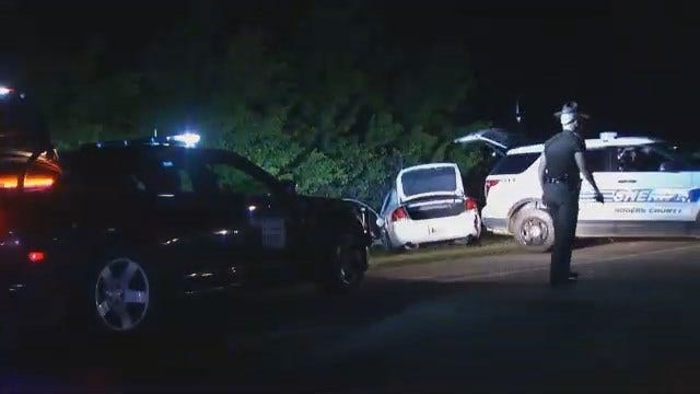 WEB EXTRA: Video From End Of Rogers County High Speed Chase, Arrests