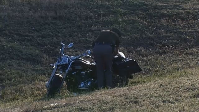 WEB EXTRA: Video From Scene Of Motorcycle Crash On Highway 412 In Rogers County
