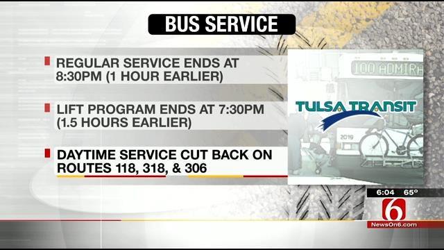 Tulsa Transit Cuts Service, Raises Fares After Budge Cut