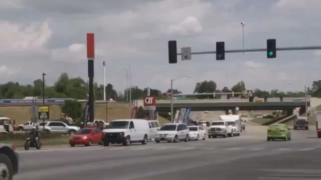 WEB EXTRA: Video Of Sand Springs' New Left Turn Traffic Signal
