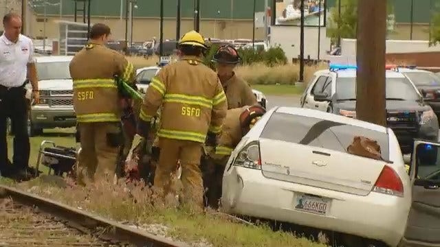 WEB EXTRA: Video From Scene Of Sand Springs Crash On Charles Page Boulevard