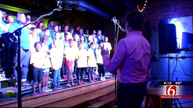 Muskogee Students Record Songs with A Purpose At Hall Of Fame