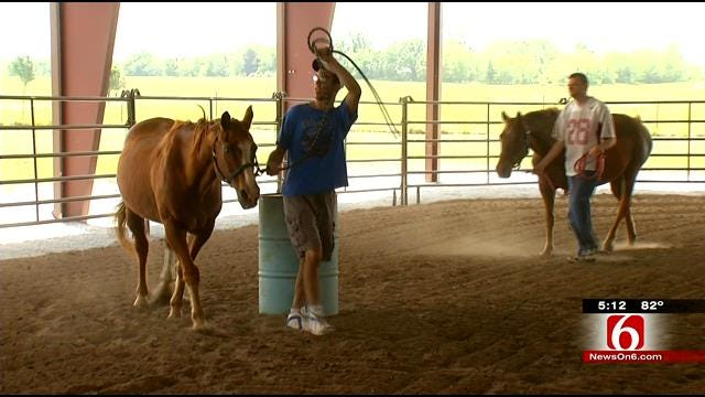 Vinita's Home Of Hope Trots Out New Covered Riding Arena