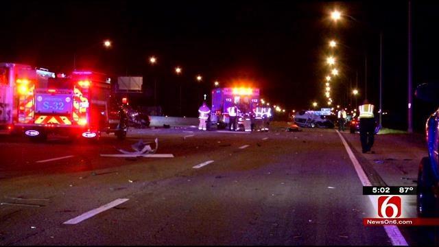 Rollover Tulsa Wreck Injures 2