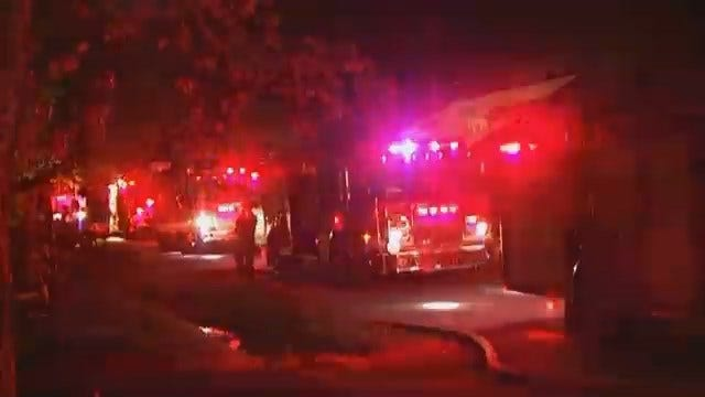 WEB EXTRA: Video From Scene Of West Tulsa Garage Fire