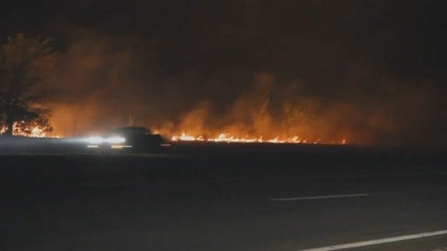 WEB EXTRA: Video Of Grass Fire In Northern Tulsa County