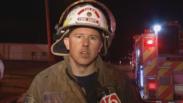 WEB EXTRA: Tulsa Fire Captain Jeremy Moore Talks About Church Fire