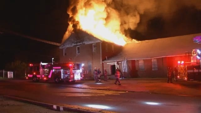 WEB EXTRA: Video From Scene Of Vacant Tulsa Church Building Fire