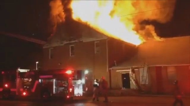 WEB EXTRA: Video From The Tulsa Church Fire