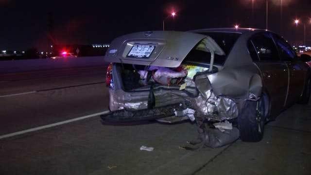 WEB EXTRA: Fleeing Tulsa Suspect Leads To Multi-Vehicle Crash