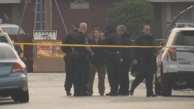 WEB EXTRA: Video From The Scene Of North Tulsa Shooting