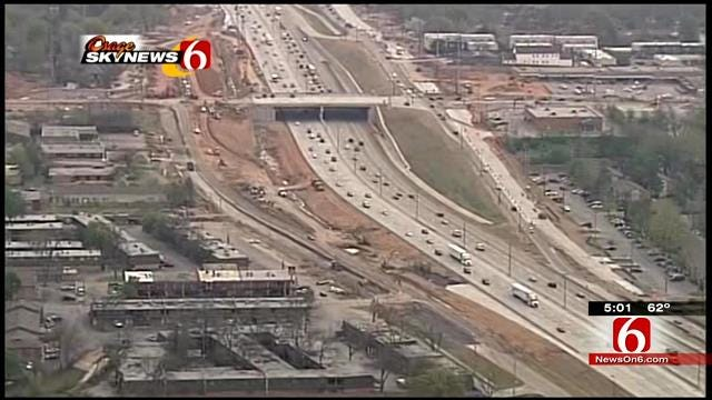 Ceremony Marks Impending Completion Of Tulsa's I-44 Widening Project