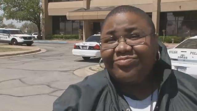WEB EXTRA: Witness To Tulsa Bank Robbery Says She Wasn't Afraid