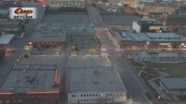 WEB EXTRA: Video From Tulsa's Brady District Power Outage