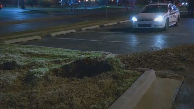 WEB EXTRA: Tulsa Drive Takes Out Water Hydrant