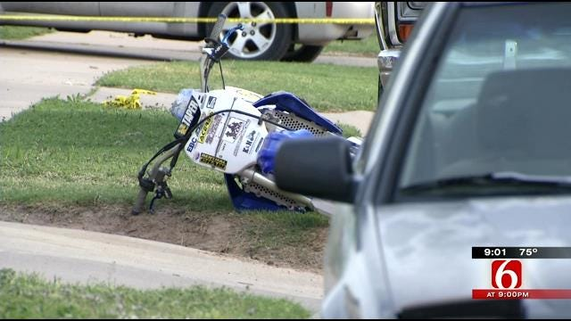 Motorcyclist Dead After Colliding With Parked Car In West Tulsa