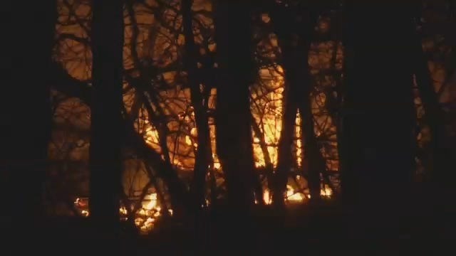 WEB EXTRA: Wild Fire Burns In Osage County