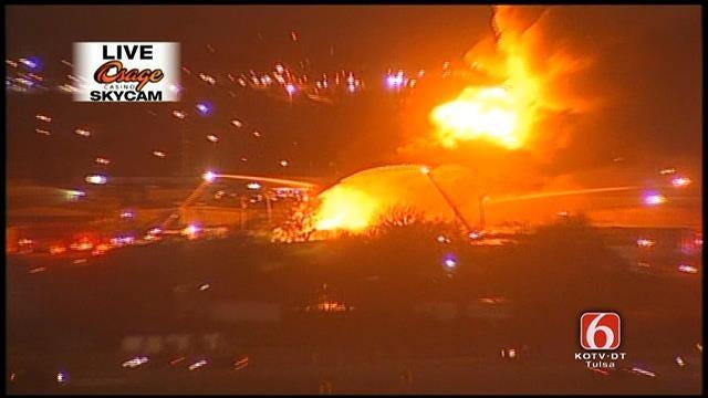 WEB EXTRA: Osage SkyCam Images Of Tulsa Building Fire