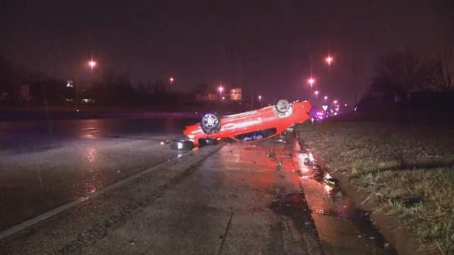 WEB EXTRA: Video From Scene Of Crash On I-244 Near Utica