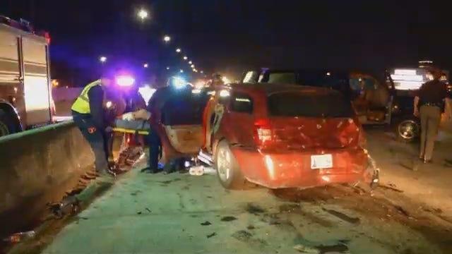 WEB EXTRA: Multi-Vehicle Wreck On Highway 75