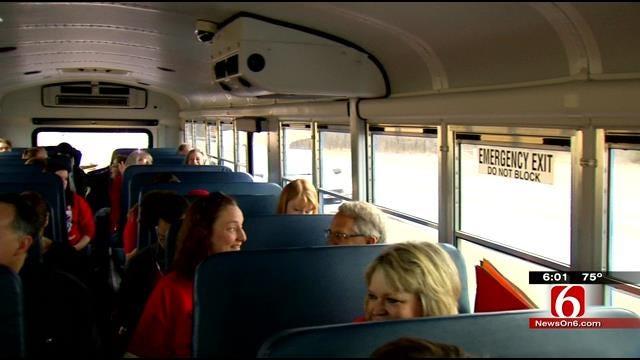 Tulsa Teachers Message At Education Rally, 'Kids First'