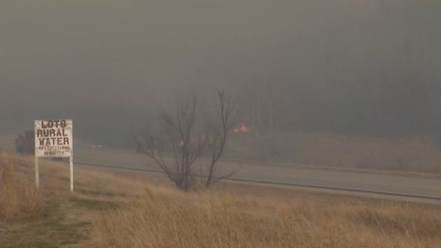 WEB EXTRA: Scenes From Osage County Grass Fire