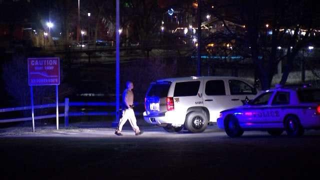 WEB EXTRA: Manhunt On West Bank Of Arkansas River