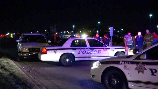 WEB EXTRA: Man Arrested After Running Into Tulsa Police Car