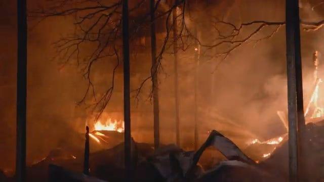 WEB EXTRA: Scenes From Broken Arrow Barn Fire