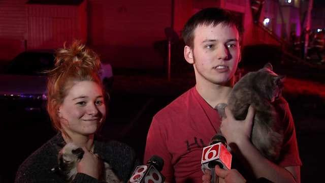 WEB EXTRA: Scenes From Tulsa Apartment Fire