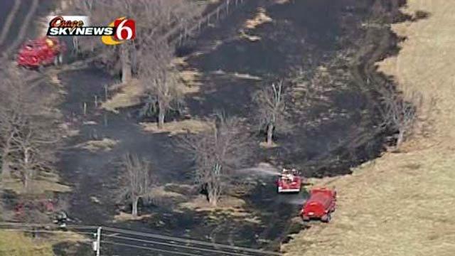 Osage SkyNews 6: Grass Fire Near Vera In Washington County