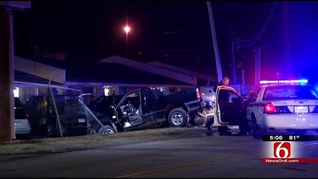 Police Use Stop Sticks To End High-Speed Chase Through Tulsa, Sapulpa