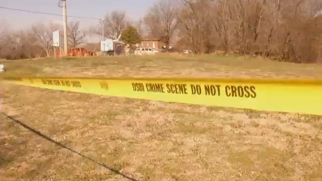 WEB EXTRA: Video From Scene Of Search Site Near Fort Gibson Historical Site