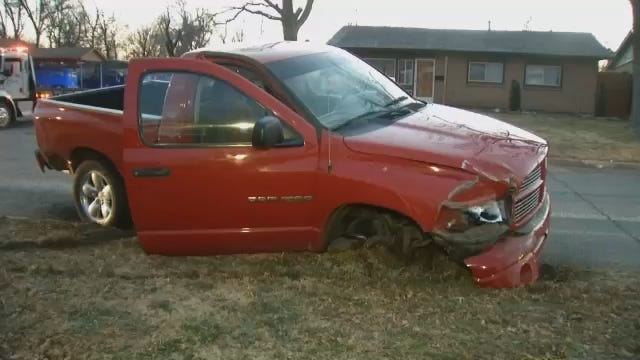 WEB EXTRA: Video From Hit & Run Crash In East Tulsa